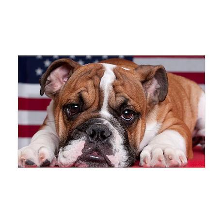 Patriotic Bulldog 38.5 x 24.5 Wall Peel