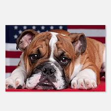 Patriotic Bulldog Postcards (Package of 8)