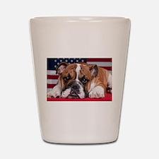 Patriotic Bulldog Shot Glass