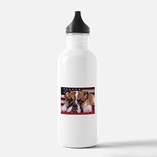 Patriotic Bulldog Water Bottle