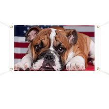 Patriotic Bulldog Banner