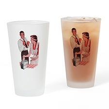 Hey Toast Drinking Glass