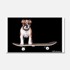 Skateboard Bulldog Car Magnet 20 x 12