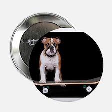"""Skateboard Bulldog 2.25"""" Button"""
