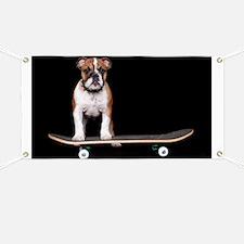Skateboard Bulldog Banner