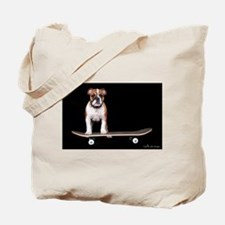 Skateboard Bulldog Tote Bag