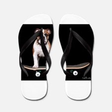 Skateboard Bulldog Flip Flops