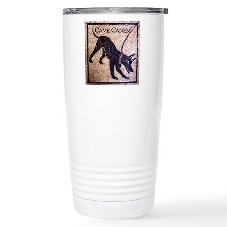 """Cave Canem"" 16 oz Stainless Steel Travel Mug"