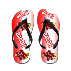 Bacon Strip Flip Flops