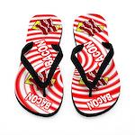 Fun Bacon Flip Flops