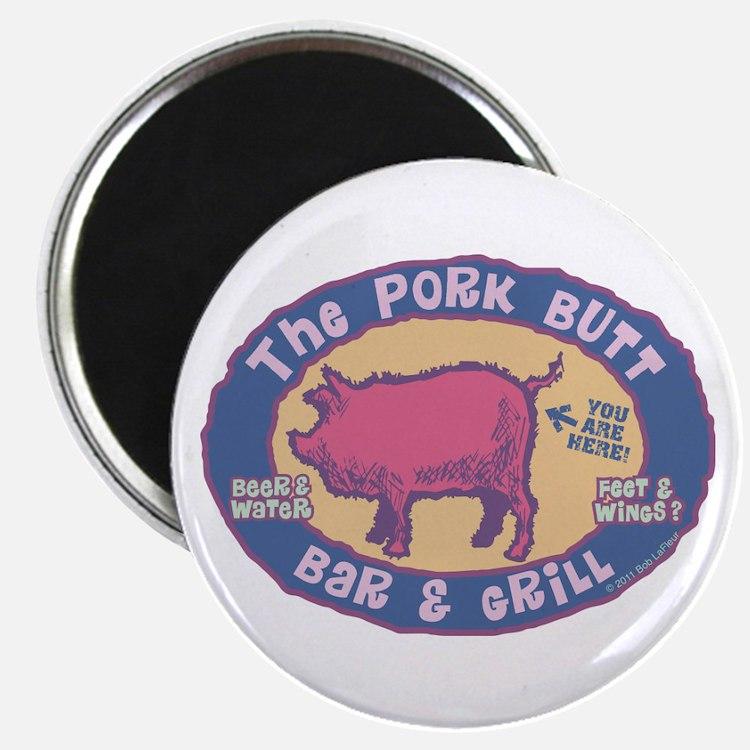 The Pork Butt Bar Magnet