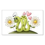 Lovey Inchworm Sticker (Rectangle 10 pk)