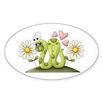 Lovey Inchworm Sticker (Oval 10 pk)