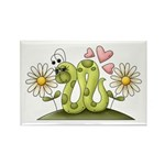 Lovey Inchworm Rectangle Magnet