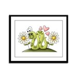 Lovey Inchworm Framed Panel Print