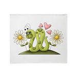 Lovey Inchworm Throw Blanket