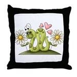 Lovey Inchworm Throw Pillow