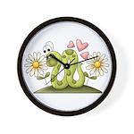 Lovey Inchworm Wall Clock