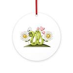 Lovey Inchworm Ornament (Round)