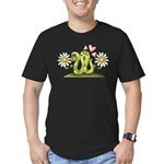 Lovey Inchworm Men's Fitted T-Shirt (dark)