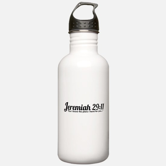 Jeremiah 29:11 (Design 4) Water Bottle