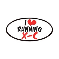 I heart (love) running XC Patches