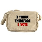 I Think Therefore I Vote Messenger Bag