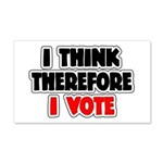 I Think Therefore I Vote 22x14 Wall Peel
