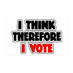 I Think Therefore I Vote 38.5 x 24.5 Wall Peel