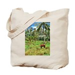 Horse in a Tropical Pasture Tote Bag