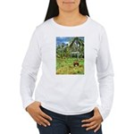 Horse in a Tropical Pasture Women's Long Sleeve T-