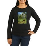 Horse in a Tropical Pasture Women's Long Sleeve Da