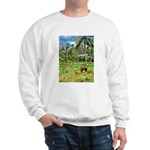 Horse in a Tropical Pasture Sweatshirt