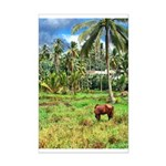 Horse in a Tropical Pasture Mini Poster Print