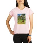 Horse in a Tropical Pasture Performance Dry T-Shir