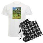 Horse in a Tropical Pasture Men's Light Pajamas
