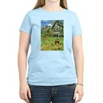 Horse in a Tropical Pasture Women's Light T-Shirt