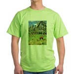Horse in a Tropical Pasture Green T-Shirt