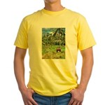 Horse in a Tropical Pasture Yellow T-Shirt