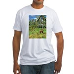 Horse in a Tropical Pasture Fitted T-Shirt
