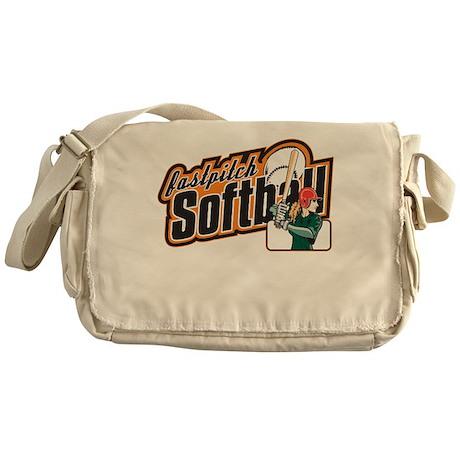 Fast Pitch Softball Messenger Bag
