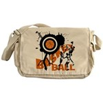 Grunge Basketball Messenger Bag
