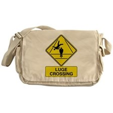 Luge Crossing Sign Messenger Bag