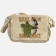 Real Men Bow Hunt Messenger Bag
