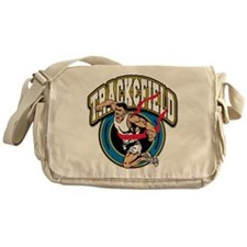 Track and Field Logo Messenger Bag