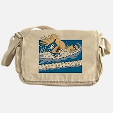 Female Swimmer Messenger Bag