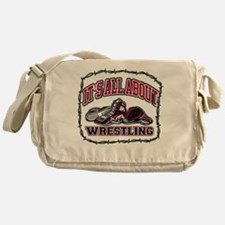It's All About Wrestling Messenger Bag