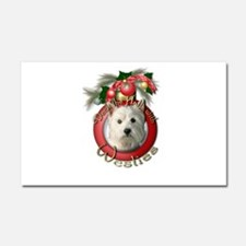 Christmas - Deck the Halls - Westies Car Magnet 20