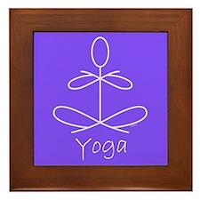 Yoga in Purple Framed Tile