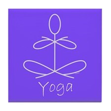 Yoga in Purple Tile Coaster